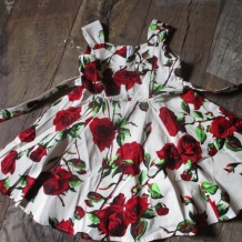 Kids 50`s Ditsy Roses Floral Summer Dress