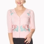 Flamingo cardigan 3 färger - Flamingo kofta rosa stl XL