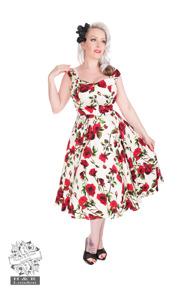 Ditsy 50`s dress - Ditsy dress ljus stl S
