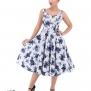 Blue Rosaceae swing dress - Blue rosaceae stl 6XL