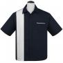 Single Panel, Bowling shirt,  finns i 3 färger - single panel stl navy/vit 3XL
