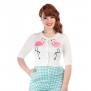 Lucy Flamingo cardigan - Lucy flamingo stl 4XL