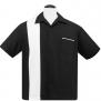 Single Panel, Bowling shirt,  finns i 3 färger - single panel svart/vit stl 3XL
