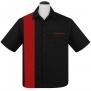 Single Panel, Bowling shirt,  finns i 3 färger - single panel svart/röd stl 4XL
