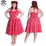 Mariam dress 6 olika färger - Röd stl L