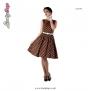 Audrey dress  Lindy Bop - brun/vit, Stl 6XL