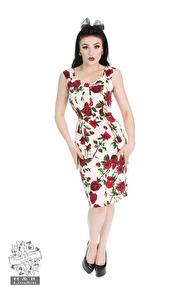 Ditsy pencil dress - Ditsy smal stl XS