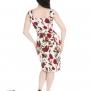 Ditsy pencil dress