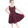 Barnklänning Bombshell Cherry 2färger - Barn klänning svart körsbär stl 11-12 år
