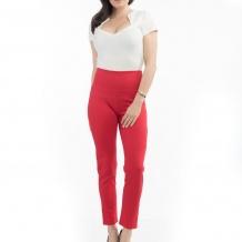 Audrey cigarette legging röd