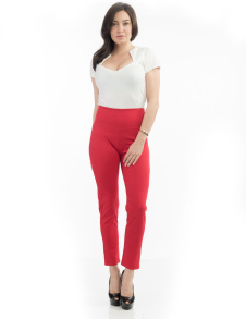 Audrey Cigarette leggings - audrey leggings röda stl S