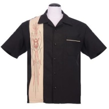 V-8 pinstripe panel shirt