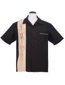 V-8 pinstripe panel shirt - V-8 pinstriping stl XS