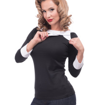 Solid Boatneck Bow top