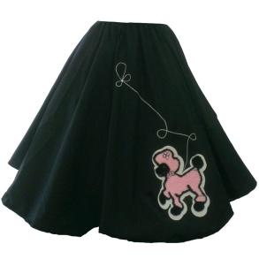 Poddle skirt - pudelkjol svart/rosa