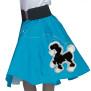 Poddle skirt - pudelkjol turkos/svart