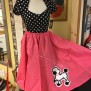 Poddle skirt - pudelkjol rosa/vit