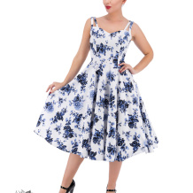 Blue rosaceaesving dress