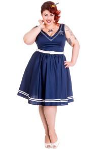 Ariel dress - ariel blå stl 2XL
