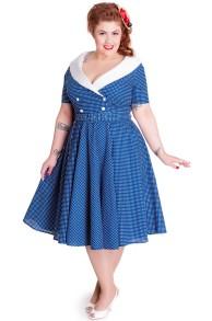 Caudia dress - caudia blå/vit stl 4XL