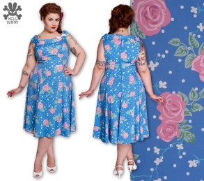 Blue Summer - Blue summer dress stl 3xL