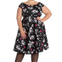 Belinda dress 2färger - belinda svart stl 4XL