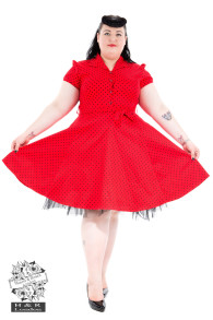 Skjortklänning dress - skjortklänning röd/svart stl 2XL