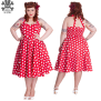 Mariam dress  flera färger - mariam dress röd/vit stl 4XL