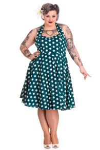 Mariam - mariam dress grön/vit stl 2XL