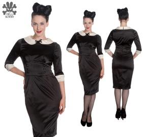 Miss Moneypenny dress - moneypenny svart stl 2XL