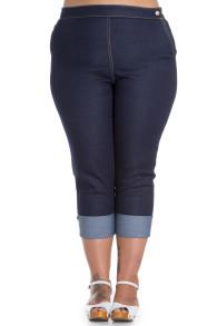 Ronnie jeans capri byxa - ronnie 3/4jeans stl 4XL