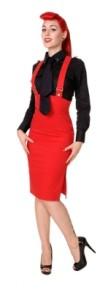 Heidi Buckle Braces - Hiedi kjol röd stl XS