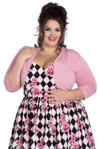 Maggie bolero i 2 färger - maggie rosa stl 2XL