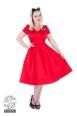 Red Plain dress