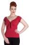 Bardot top, 5 olika färger - Bardot röd stl XL
