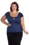 Melissa top,  7 olika färger - Melissa blå, stl 4XL