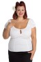 Melissa top,  7 olika färger - Melissa vit, stl 4XL