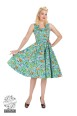 Turquose Ella Floral swing dressAudrey 50`s dream Floral swing dress