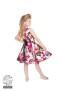 Audrey 50`s Cream Floral Swing dress