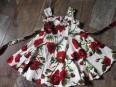 Kids 50`s Ditsy Roses Floral Summer Dress