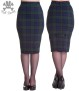 Jodie pencil skirt,  Hell Bunny - Jodie  grön  stl XL