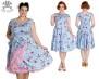 Belinda dress 2färger - belinda ljblå stl 4XL