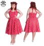Mariam - mariam dress röd/vit stl 4XL