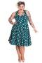 Mariam - mariam dress grön/vit stl 4XL