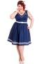 Ariel dress - ariel blå stl 4XL