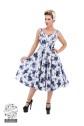 Blue rosaceaesving dress