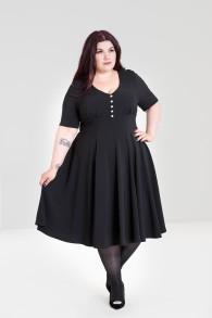 Mila - Mila dress svart stl 2XL