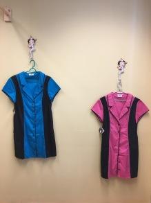 Bowling dress - Bowling dress blå stl L