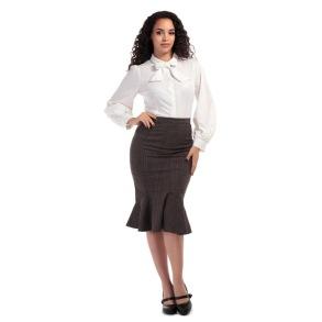 Winifred fishtail kjol - Vintage fishtail stl 4XL