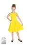 Cindy prickig klänning - cindy klänning gul/vit stl 11-12år